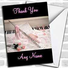 Ballet And Music Personalised Thank You Card