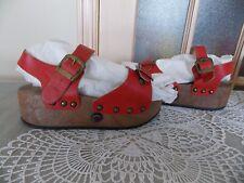 Vintage Women's sz 5.5 pop up roller skates leather platform sandals Italy made