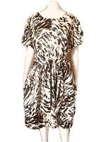 Perri Cutten-Animal Print-Spring Dress-Size 18
