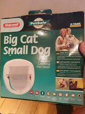Staywell 4 Way Locking Pet Door White Cat and Dog Flap