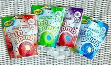 4 Crayola Color Twist Bath Bomb Fizzie for Kids Multiple Colors (Color Changing)
