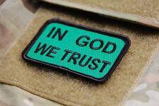 Multicam IN GOD WE TRUST Patch DEVGRU NAVY SEAL TEAM 6 160th SOAR Hook & Loop