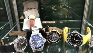 Six Ex Display Wristwatches Maurice Lacroux BULOVA Etc MASSIVE SAVING.