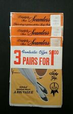 vintage Shirley Gay nylons lot of 3 pairs, nos