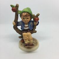 "Goebel Hummel Figurine Apple Tree Boy 4"" Tall - Germany"