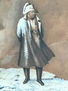 Portrait NAPOLEON BONAPARTE Moskowa GRAVURE Campagne RUSSIE Borodino XIX°