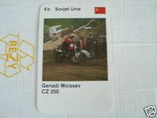 23 MOTO-CROSS 6B USSR GENADI MOISSEEV CZ 250 KWARTET KAART, QUARTETT CARD,