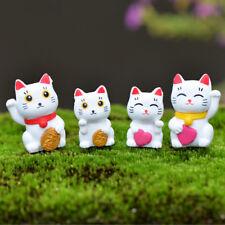 4X Cartoon Lucky Katzen Micro Landschaft Garten Dekorationen Miniaturen ZP