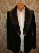 Extra rare Gucci Tom Ford ERA Velvet suit fur w satin black smoking 50R US 40R