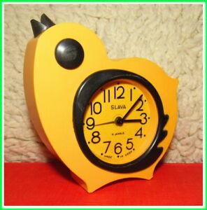 Modern Mechanical Alarm Clock Slava 11 Jewels Russian USSR Soviet 1980s #26226