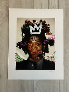 Jean-Michel Basquiat X Mr HOLLYWOOD   Street Art Print Signed Limited Edition