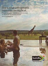 2012 South Africa Travel Advertisement--Giraffes/Elephants/Madikwe Game Reserve