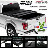 Fit 2007-2019 TUNDRA Crewmax Cab Assemble Solid Tri-Fold Tonneau Cover 5.5ft Bed