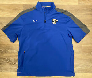 NEW Mens Nike Dri-Fit MiLB AAA Omaha Storm Chasers Team-Issue 1/2 Zip Pullover M