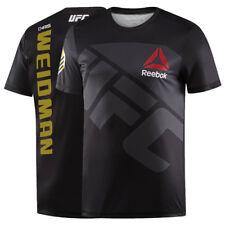 New Chris Weidman Reebok UFC Fight Kit Jersey Champion Black Gold T-shirt Small
