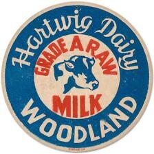 Vintage Retro Hartwig Dairy Milk Advertising Metal Sign Unique Wall Decor RPC083