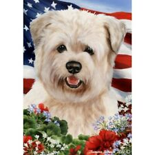 Patriotic (1) House Flag - Wheaten Glen of Imaal Terrier 16215