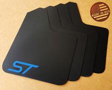 [SR] 13-16 FORD FOCUS ST Mud Guard Flaps STARTER Set BLACK w/ Logo (NO HARDWARE)