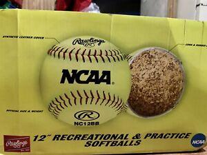 Rawlings NCAA Softballs Brand new 12 Balls In Box