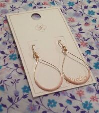 ORELIA EARRINGS ~RRP £15~ CORAL BEAD TEARDROP PALE GOLD FASHION JEWELLERY~7685~