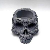 Silicone Mold Multiple Horror Skull DIY Vase Plant  Ashtray Resin Concrete Home