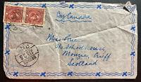 1930s Iohang China Airmail Cover To School House Monzie Scotland By Canada