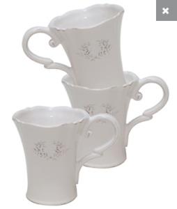 Divine White French Provincial Victoriana Coffee ~ Tea Cup ~ Mug
