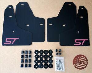[SR] 11-18 Ford FOCUS ST SE S Mud Guard Flaps Set BLACK w/ Logo & Hardware Kit
