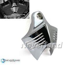 Chrome V-Shield Horn Cover For Harley Davidson Softail Dyna Glide Big Twin