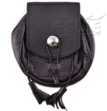 Mens Real Leather Sporrans color BLACK, LI-SCO-0058