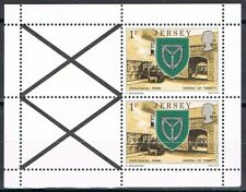 Jersey blaadjes uit Pb - panes from  booklet 1 small (without perf margin) MNH