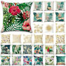 Tropical Flower Cushion Cover Throw Waist Pillow Case Pillowcase Sofa Home Decor