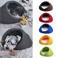 Pet Cat Dog Cave Igloo Bed Basket Kitten House Soft Pet Bed Cushion Kennel Warm