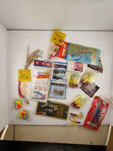 Lot Vintage Shrimp Fly Rigs Jigs Saltwater Fishing Hooks Tackle Lure NIP