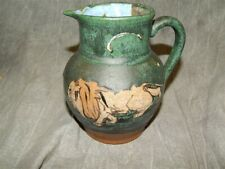 "Teplitz Stellmacher Potterie (Amphora) Lion 5.75"" Pitcher / Jug"