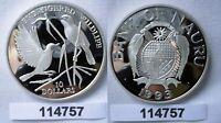10 Dollar Silber Münze Nauru 1993 bedrohte Tierwelt Teichrohrsänger (114757)