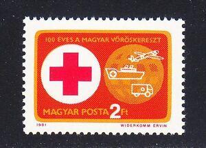 Hungary 1981 MNH Sc 2694 Mi 3495 Red Cross stamp **