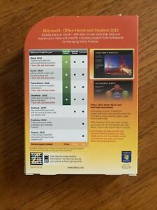Microsoft Office Home and Student 2010 Family Pack for 3PCs Word Excel PP Note