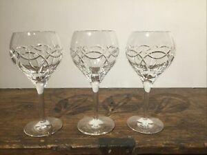 """Trio of """"Waterford Crystal"""" 'Clanad' Oversize Balloon Wine / Gin Glasses"""