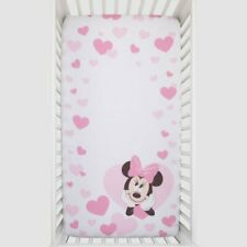 "Disney Minnie Mouse  Baby Fitted Crib Sheet ONLY-  52"" x 28"" SEE DETAILS 👓"