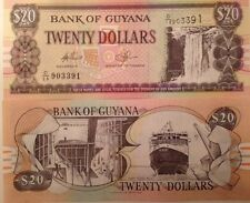 GUYANA 1996 20 DOLLARS P-30 UNCIRCULATED BANKNOTE KAITEUR WATER FALLS & FERRY !!