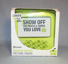 Limited Too Wireless Bluetooth Speaker Girls Picture Frame Green Music For Hours
