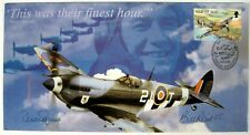 RARE!!! WORLD WAR II FDC ISLE OF MAN BATTLE OF BRITAIN SIGNED COVER REID SQUIRE