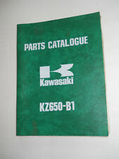 KAWASAKI  KZ650 B1 KZ650 C1   ILLUSTRATED  PARTS LIST CATALOGUE  MANUAL