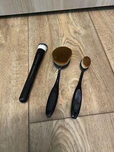 3x Foundation Make-Up Pinsel, Groß Und Klein