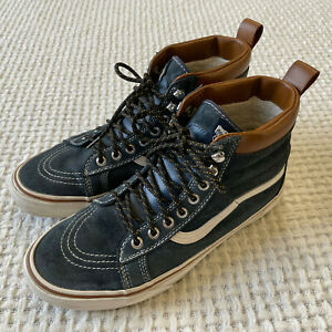 Vans Off The Wall Sk8-Hi Skateboard Shoes Mens 9 Womens 11 Suede Faux Fur Lined
