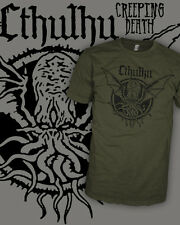 Cthulhu v2 - Call of Cthulu - Vintage HP Lovecraft T-Shirt - Scoop V-Neck Raglan