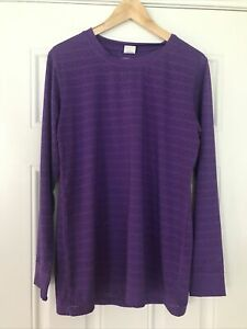Zyia Active Shirt Purple Long Sleeve Chill Tee Women's Size XL