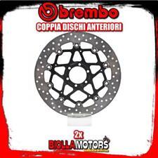 2-78B40870 COPPIA DISCHI FRENO ANTERIORE BREMBO DUCATI MONSTER S2 R 1000 2007- 1