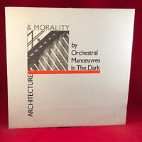 ORCHESTRAL MANOEUVRES IN THE DARK Architecture & Morality 1981 UK Vinyl LP O.M.D